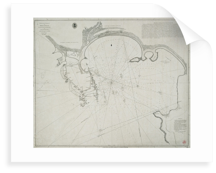 Chart of the harbour of Point de Galle. Surveyed in January and March 1800, by Captain David Inverarity. To whom this plate is inscribed, by his most obliged A.Dalrymple. by Alexander Dalrymple