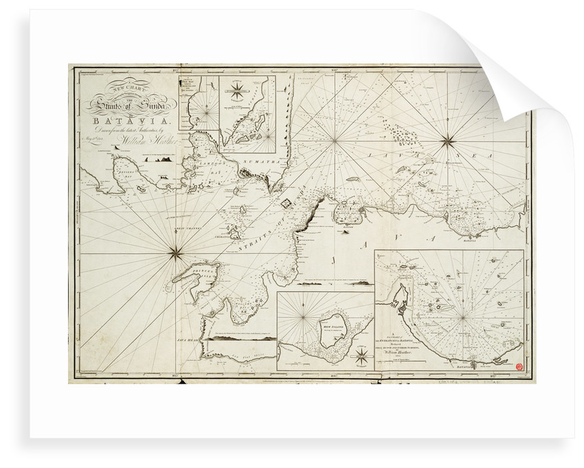 Navigation through the Straits of Sunda to Batavia by William Heather