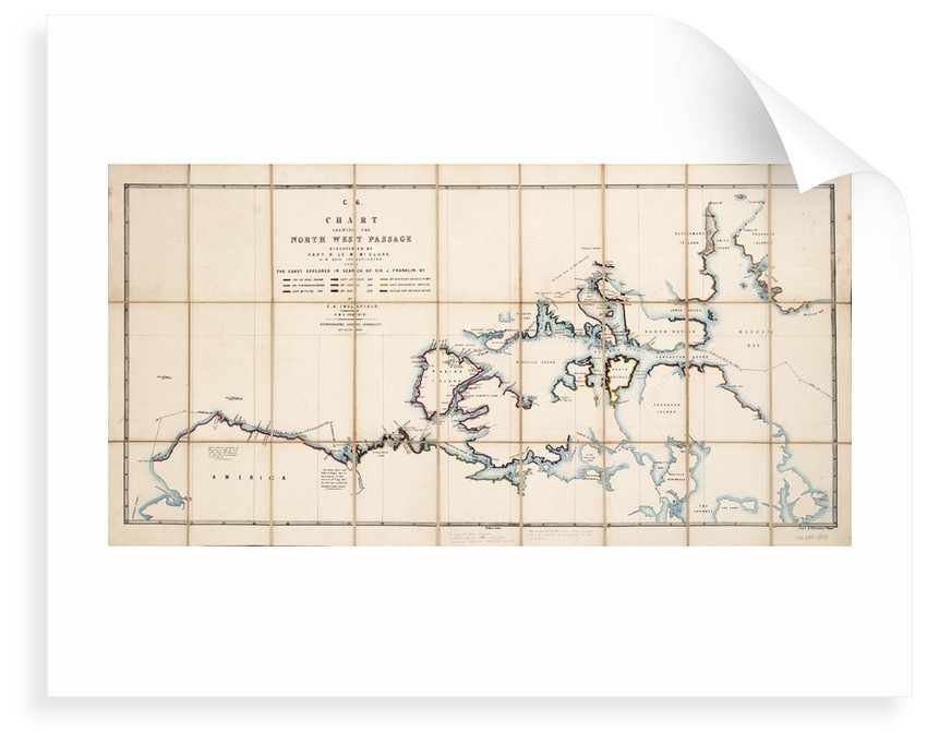 Chart showing the North West Passage discovered by Captain R. Le M. McClure, HMS 'Investigator' by E.A. Inglefield
