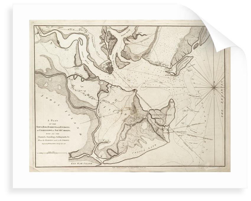 Plan of Charlestown, South Carolina, 1780 by William Faden