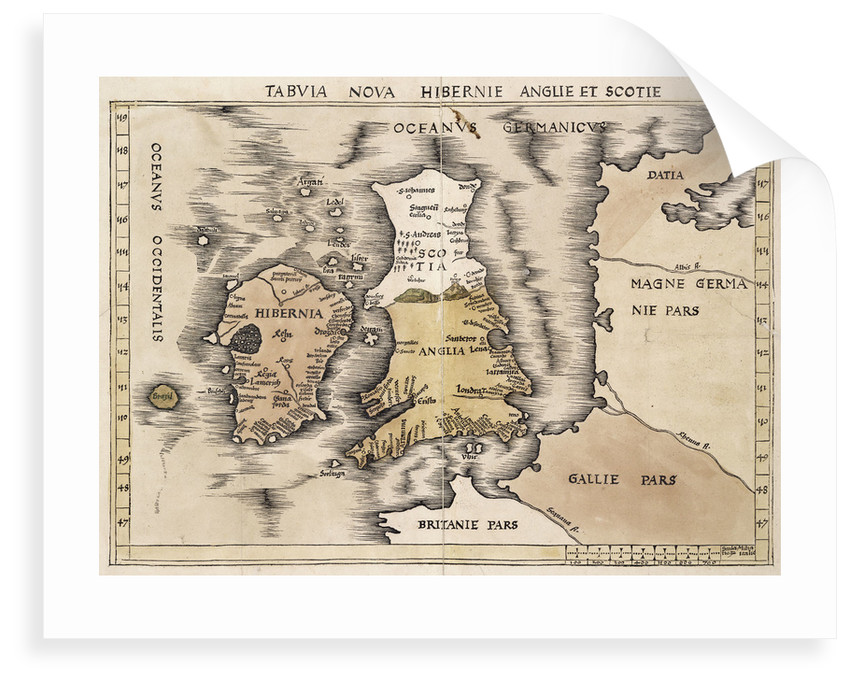 Map Of England Scotland.Map Of England Ireland And Scotland Posters Prints By Ptolemy