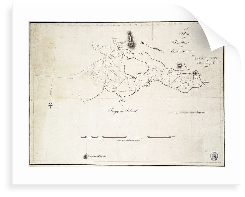 A plan of the harbour near Singapore by Captain D.l. Ross, FRS Marine Surveyor General by D.l. Ross