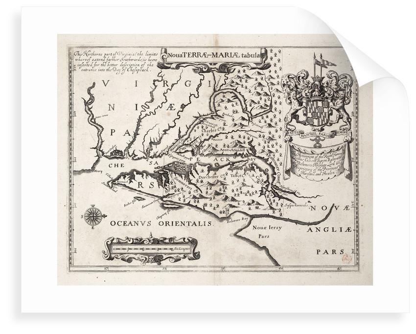 Map of Nova Terrae-Mariae tabula by John Ogilby