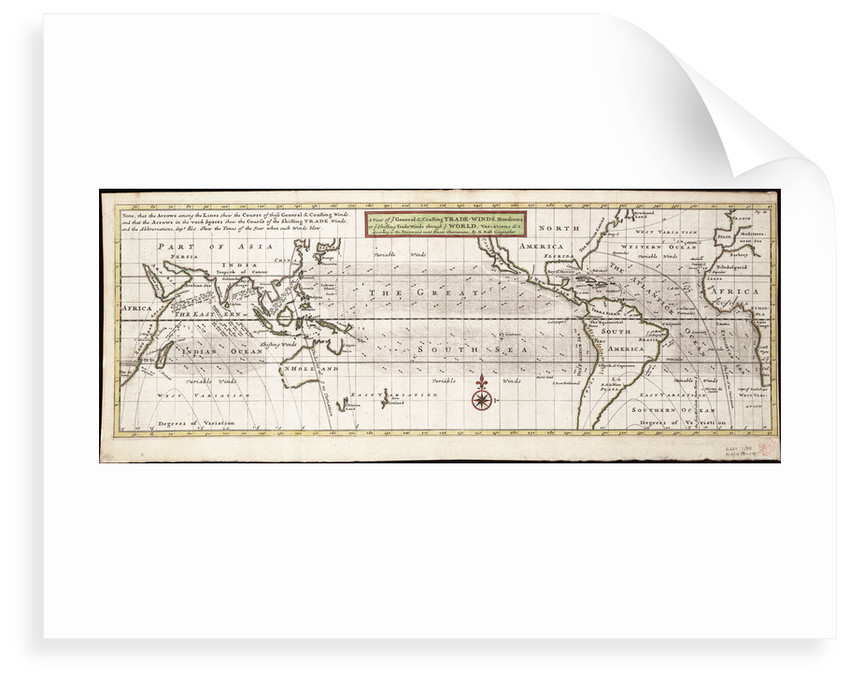A view of ye general and coasting trade-winds, monsoons or ye shifting trade winds through ye world, variations... according to the newest and most exact observations by Herman Moll