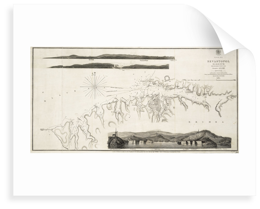Black Sea Sevastopol Harbour from the Russian Survey of 1836 by unknown