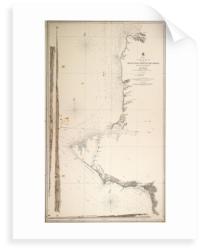Black Sea, chart of the South-West Coast of the Krimea from Cape Aia to Alma Bay. By the officers of H.M.S.V. Spitfire. by Malby & Sons
