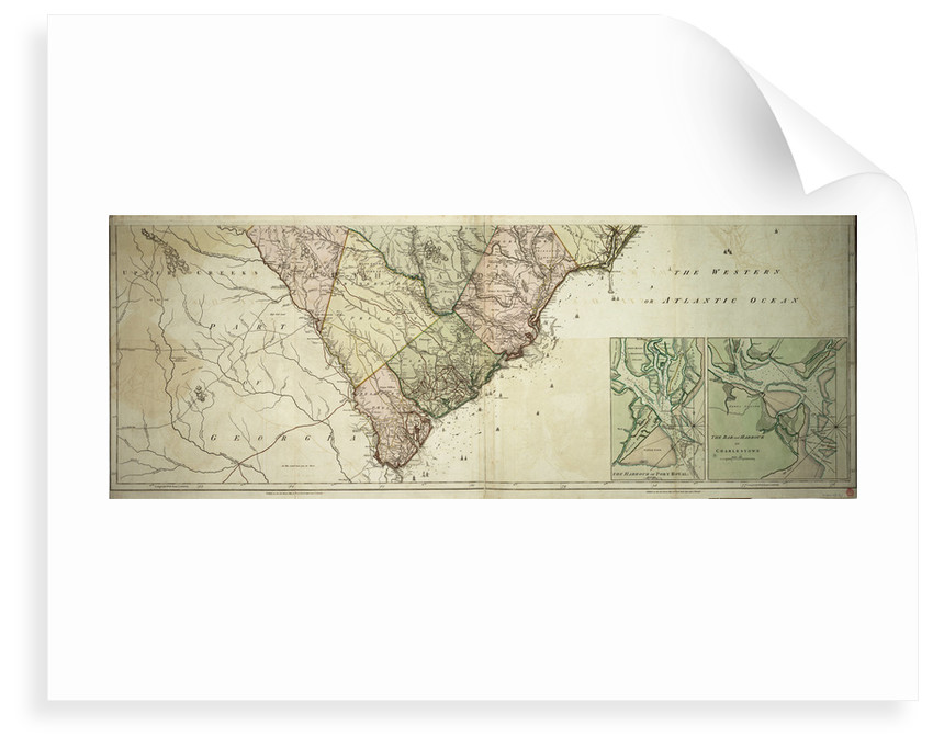 Map of North and South Carolina by Sayer & Bennett