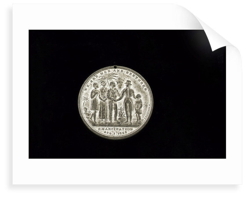 Medal commemorating the 'Emancipation in the West Indies' by Thomas Halliday