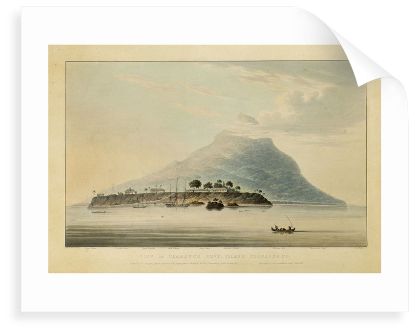 View of Clarence Cove, Island Fernando Po by Rosenburgh