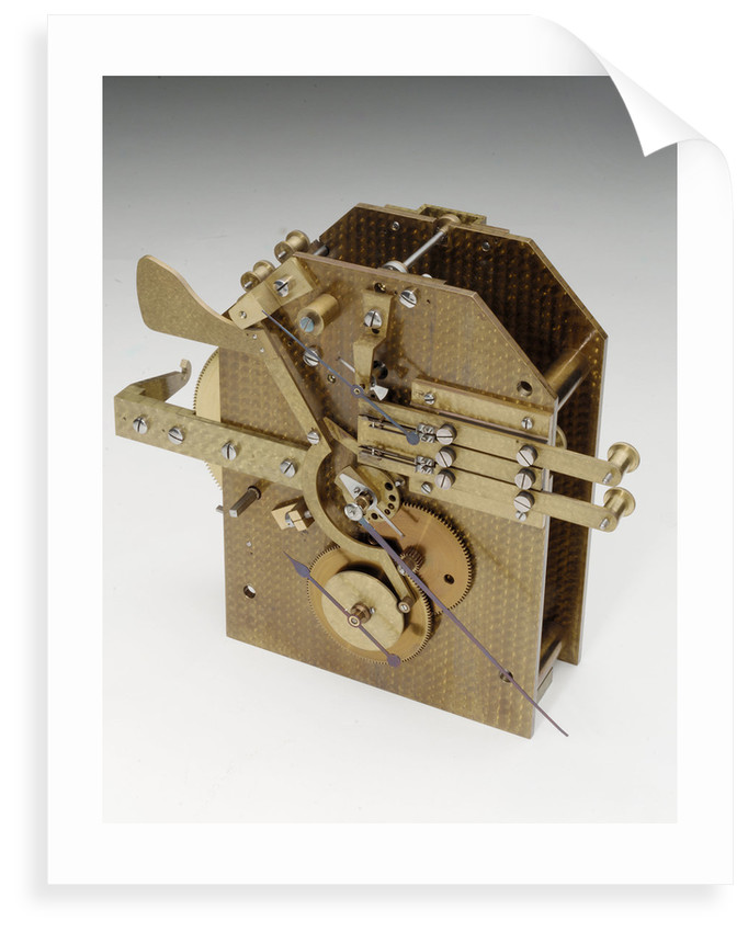 Astronomical regulator, movement front by Edward Edward John Dent & Co.