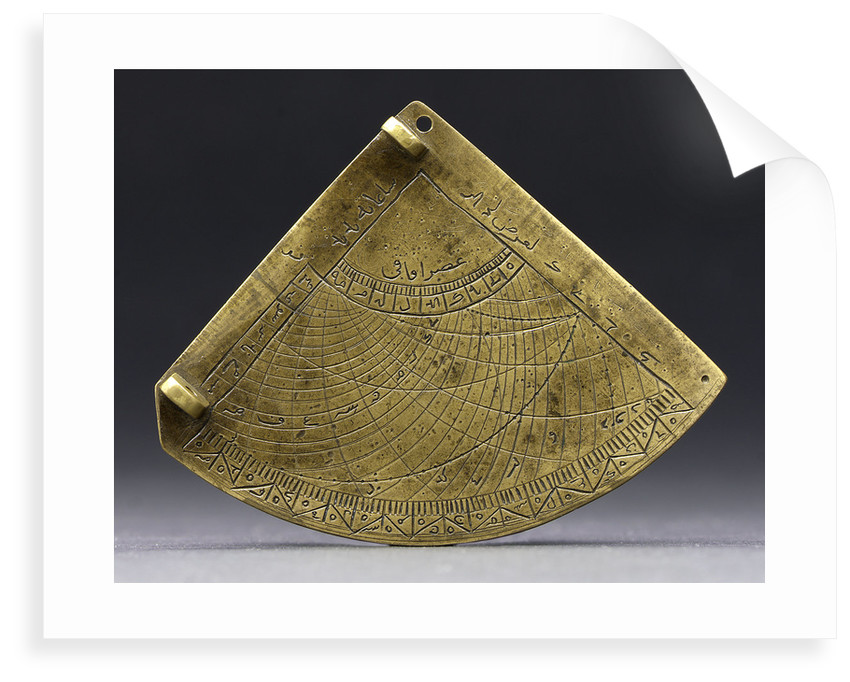Obverse of astrolabe quadrant by unknown
