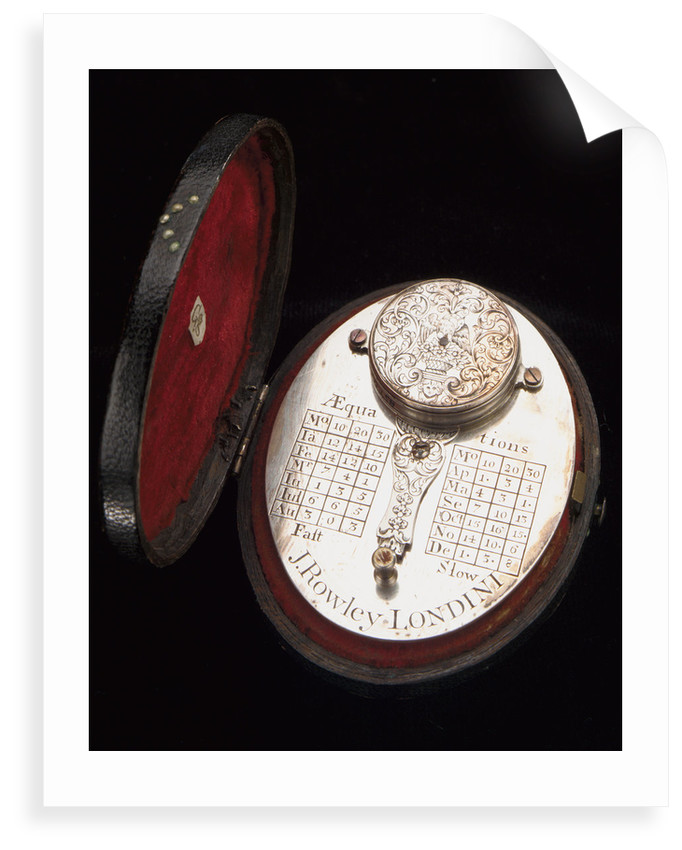 Butterfield dial, reverse, with case by John Rowley