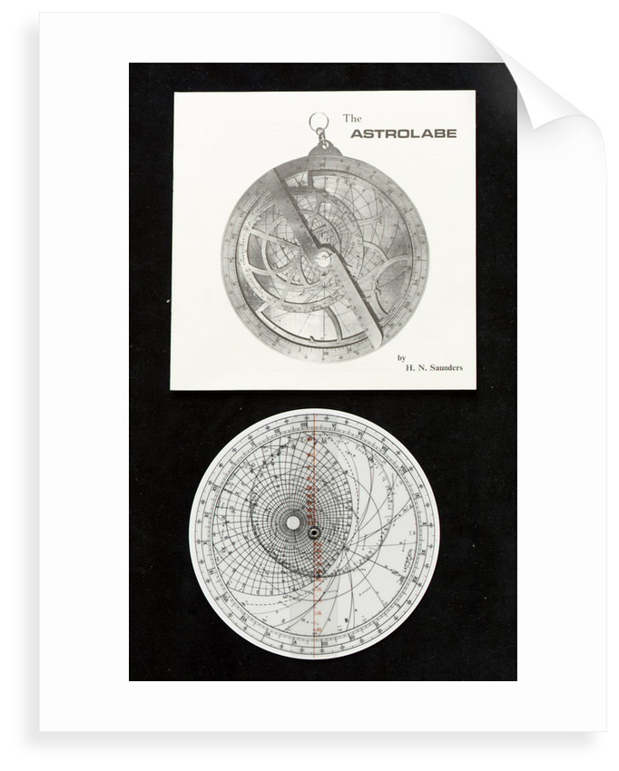 Model astrolabe by Harold N. Saunders