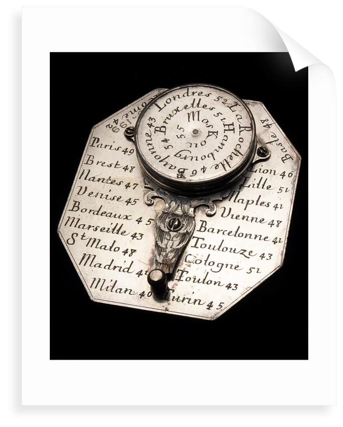 Butterfield dial, reverse by Nicolas Bion