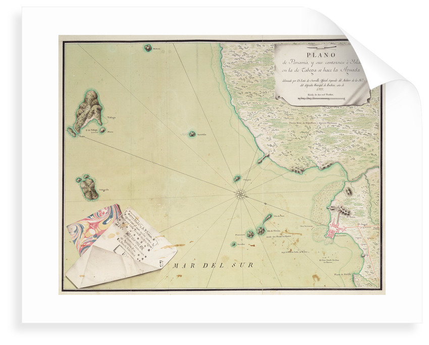 Map of Panama by Luis de Surville