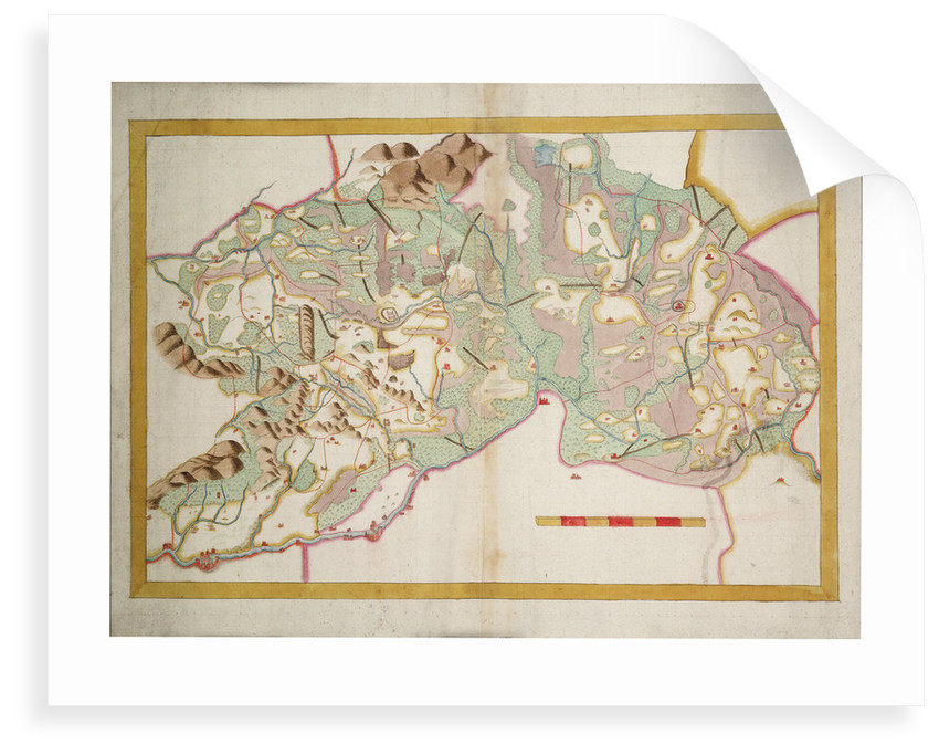 Chart of Leix and Offaly (circa 1590) by Anonymous
