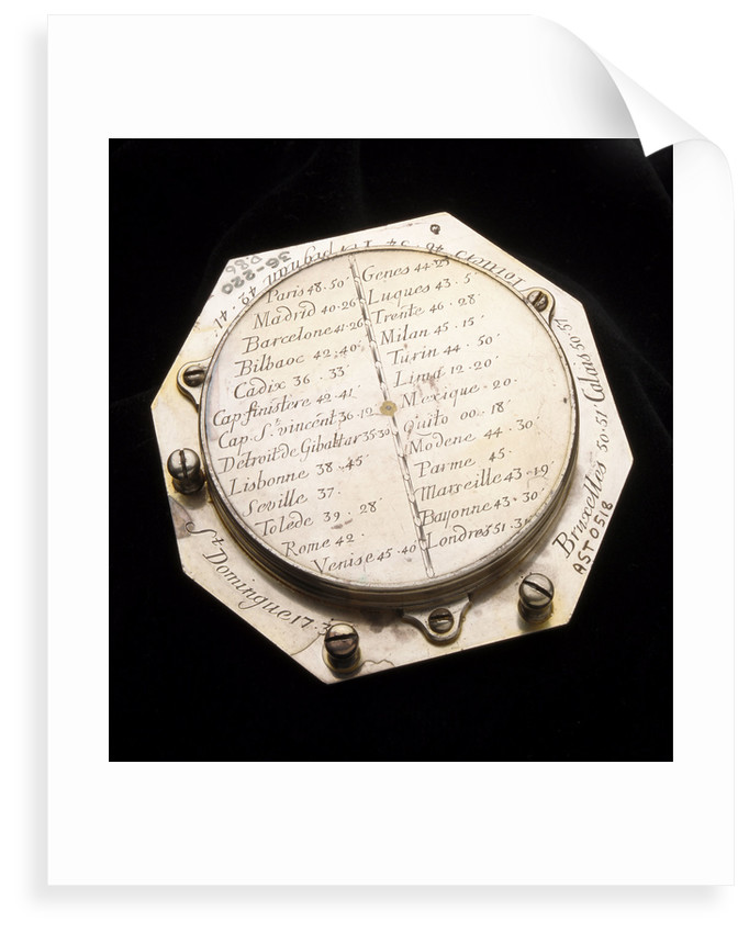 Augsburg dial for latitudes 0-75 North by Claude Langlois