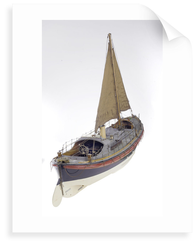 Full hull model, Watson lifeboat, starboard stern quarter deck by unknown
