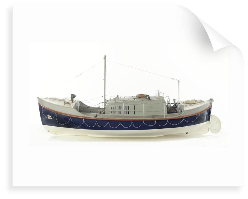 Full hull model, Oakley Mark II self-righting lifeboat, port broadside by unknown