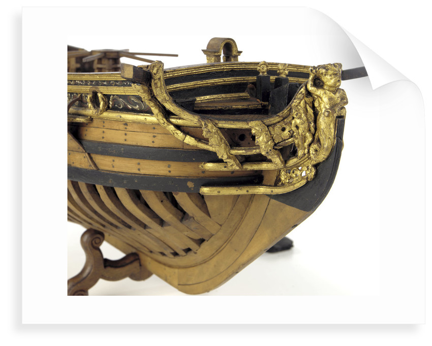 Full hull model, yacht, figurehead by unknown