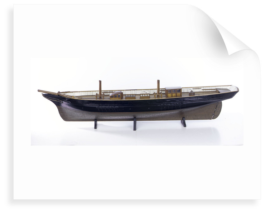 Accommodation model, yacht, port broadside by unknown