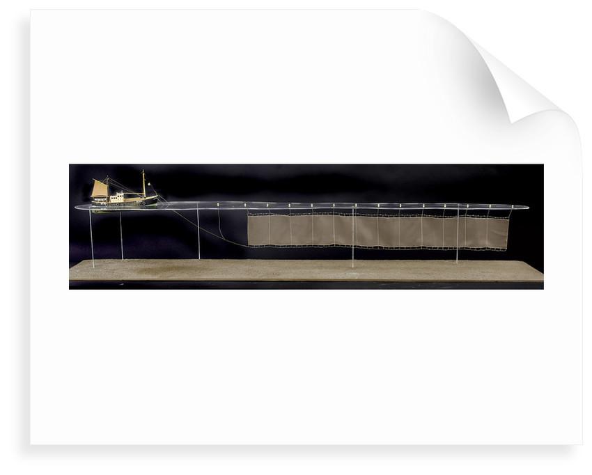 'Accumulator', starboard broadside, scenic model by Kenneth Britten