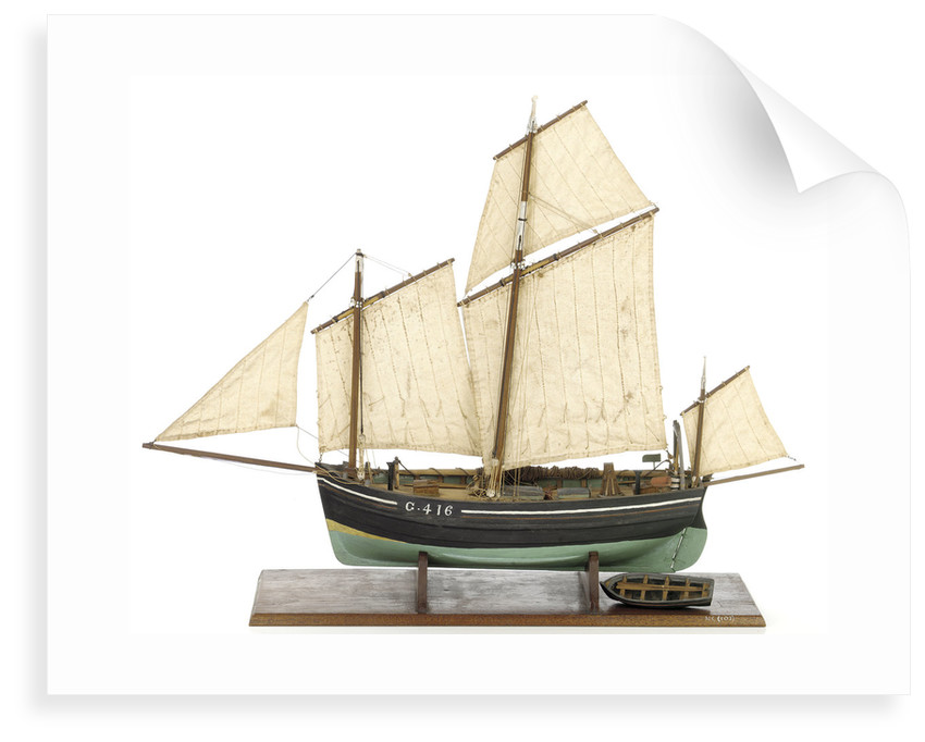 Full hull model, chasse marie, port broadside by unknown