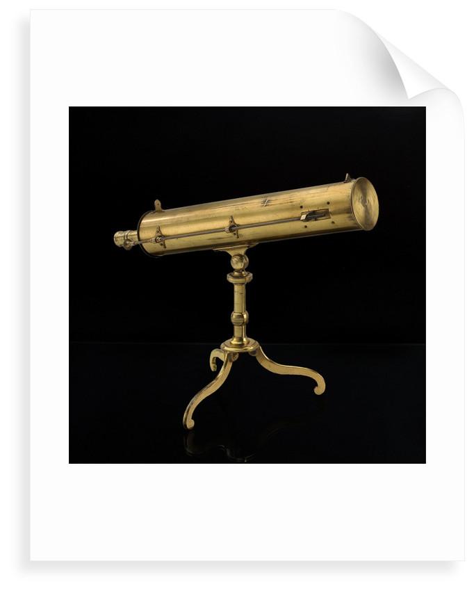 Portable reflector telescope by James Short