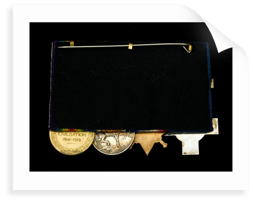 Medals awarded to Alfred William Newman RN (reverse, r to l, MED2034-2037) by Percy Metcalf