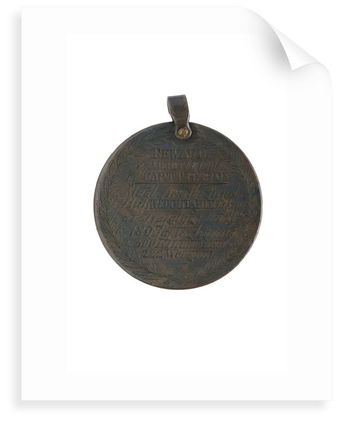 Captain Hardy's Reward, 1805, reverse by unknown