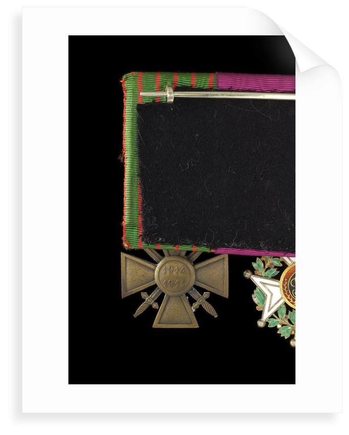 Croix de Guerre 1914-1918, reverse by unknown