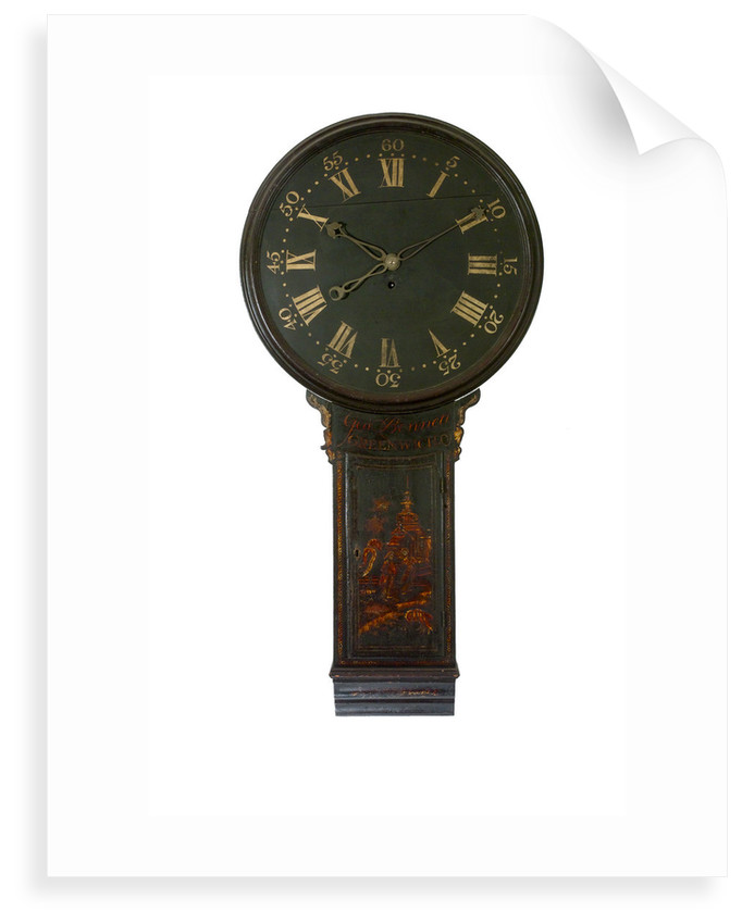 Tavern clock, complete in case by George Bennett
