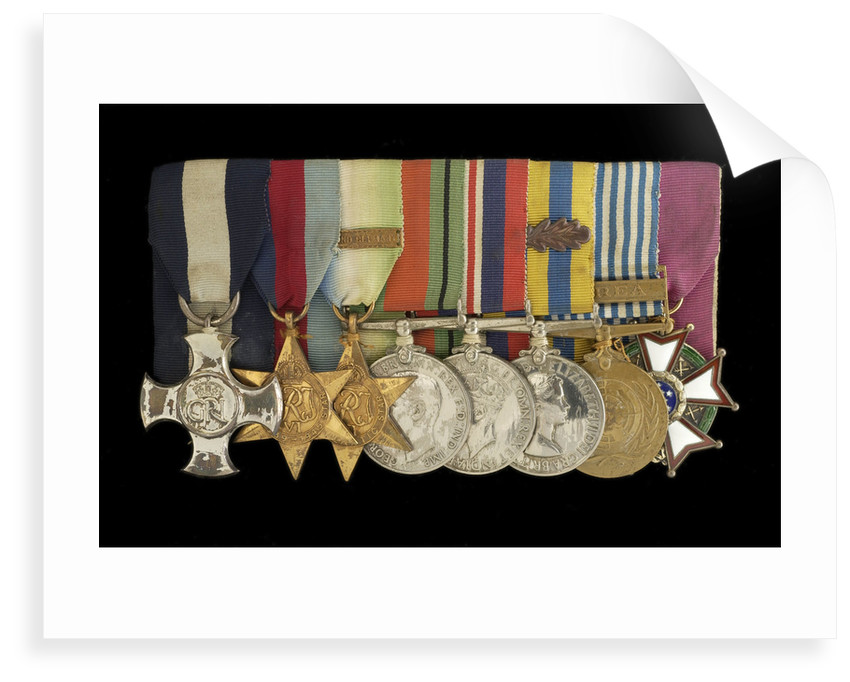 Medals awarded to Commander Peter Worth DSC (obverse, l to r, MED2002-2009) by unknown