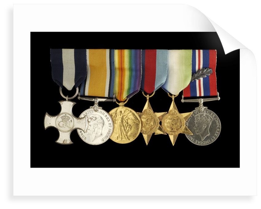 Medals awarded to Captain W. J. C. Robertson DSC (obverse, l to r, MED1095-1104) by unknown