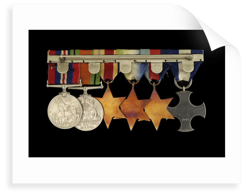 Medals awarded to Cdr Herbert J. P. Crousaz DSC (reverse, r to l, ZBA2252-2257) by unknown