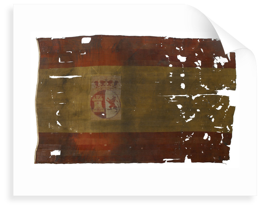 Spanish naval ensign, top left quarter detail by unknown