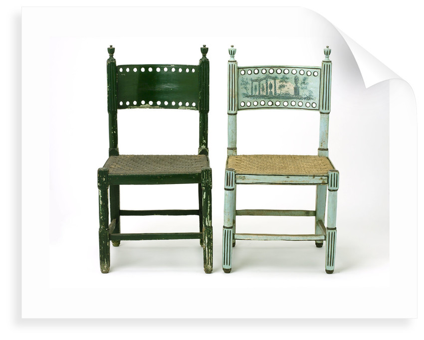 Two chairs by unknown