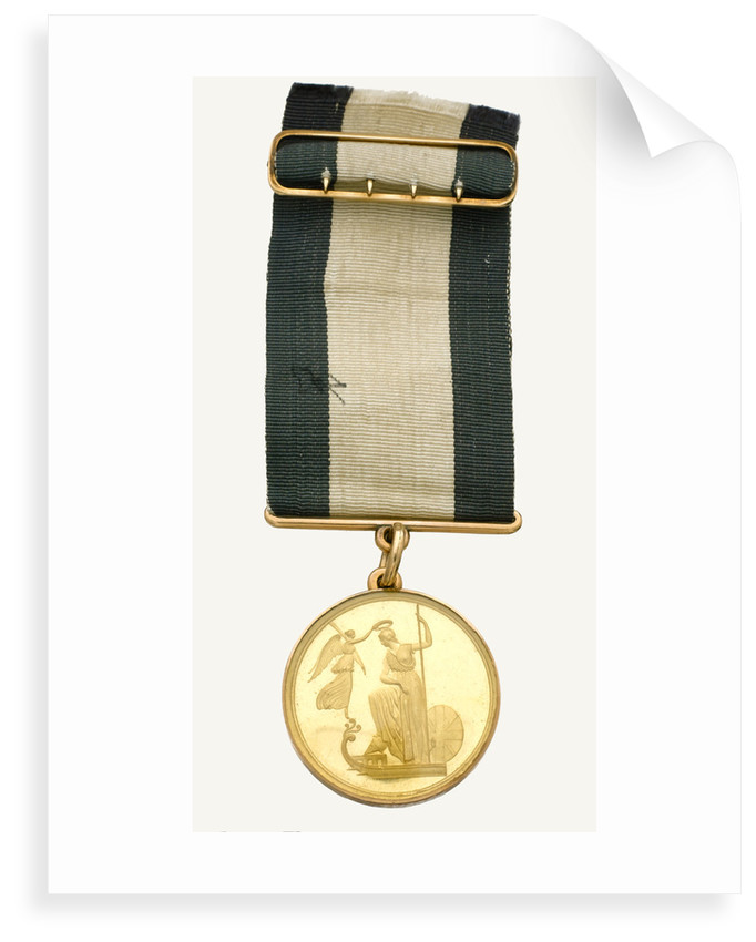 Naval Gold Medal (Captain's) for The Battle of Trafalgar, 1805, obverse by Lewis Pingo