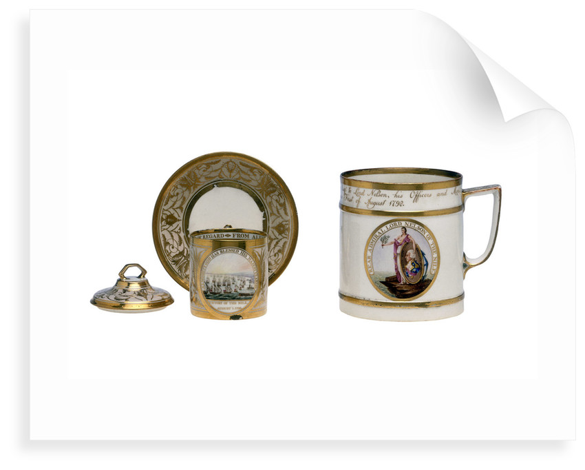 Porcelain made to the order of Alexander Davison (1750-1829), Nelson's prize agent by William Duesbury
