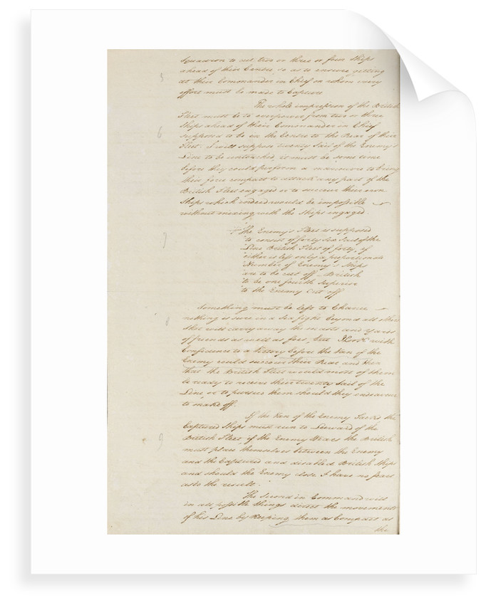 Nelson's secret memorandum, page one by Horatio Nelson