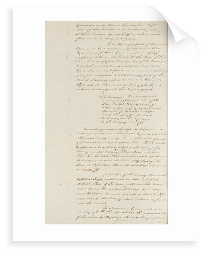 Nelson's secret memorandum, page one by Horatio Nelson