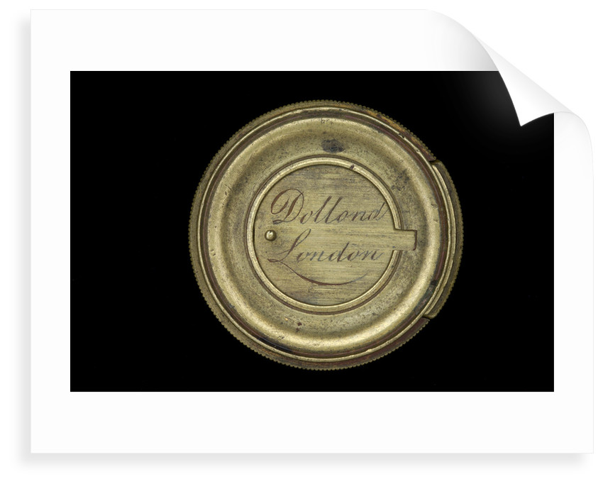 Pocket telescope - objective lens cover inscription by Dollond