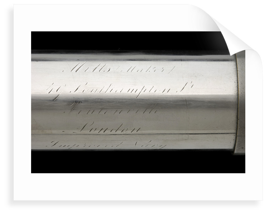 Naval telescope - inscription by Mills