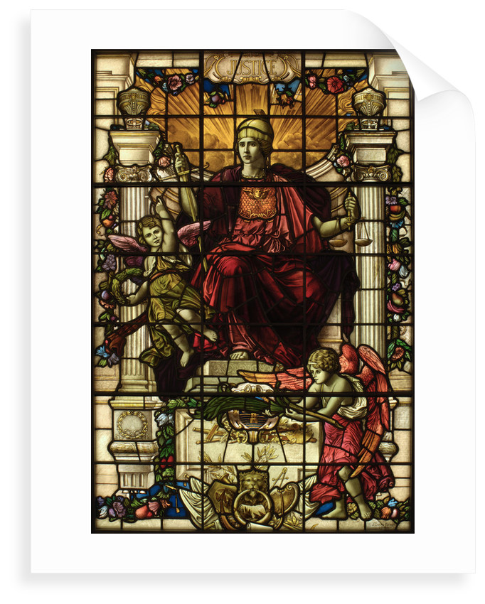 Baltic Exchange Glass, The Virtue Windows, Justice by John Dudley Forsyth