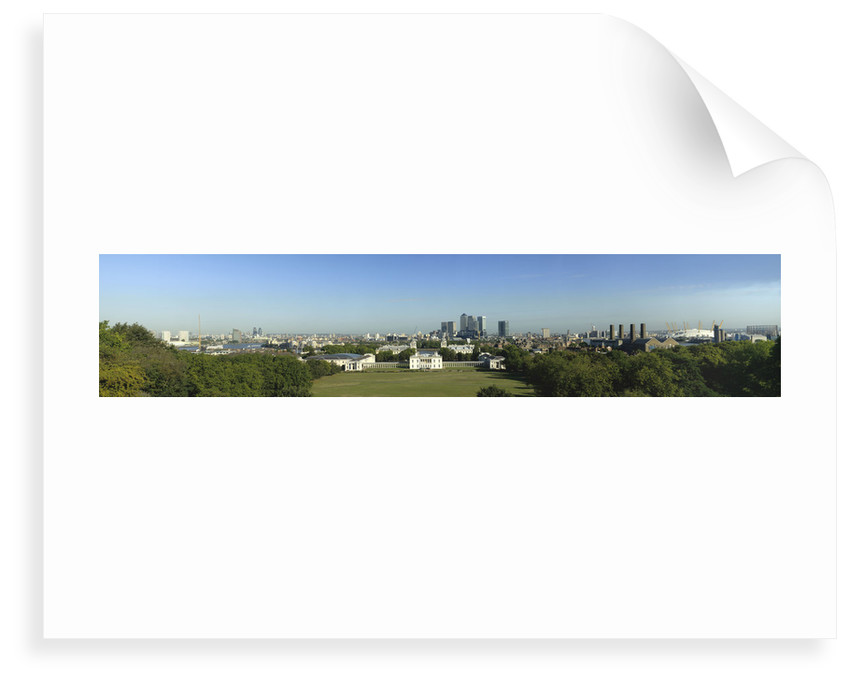 View of Greenwich Park, Queen's House and National Maritime Museum from Royal Observatory, Greenwich by National Maritime Museum Photo Studio