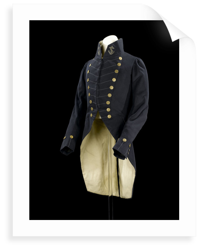 Surgeon Full dress coat  - Royal Naval uniform: pattern 1825-1832 by unknown