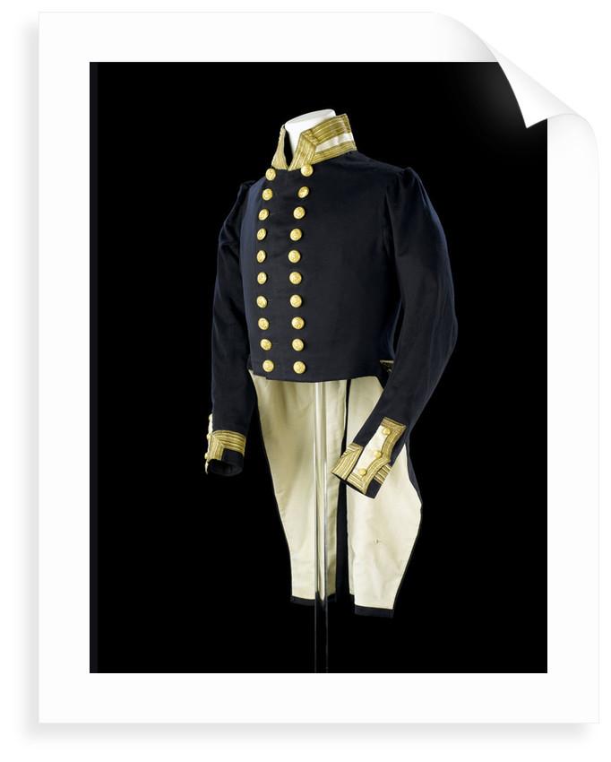 Full dress coat, Royal Naval uniform: pattern 1843 by Clancy