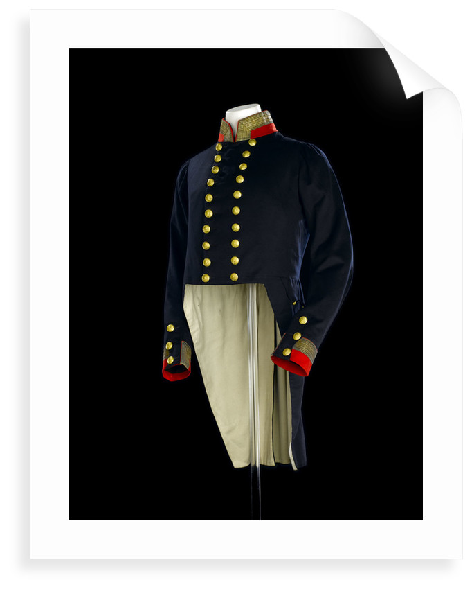 Full dress coat, Royal Naval uniform: pattern 1830-1843 by B. Boggett