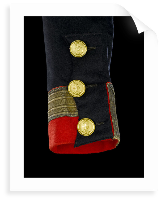 Full dress coat - cuff detail, Royal Naval uniform: pattern 1830-1843 by B. Boggett