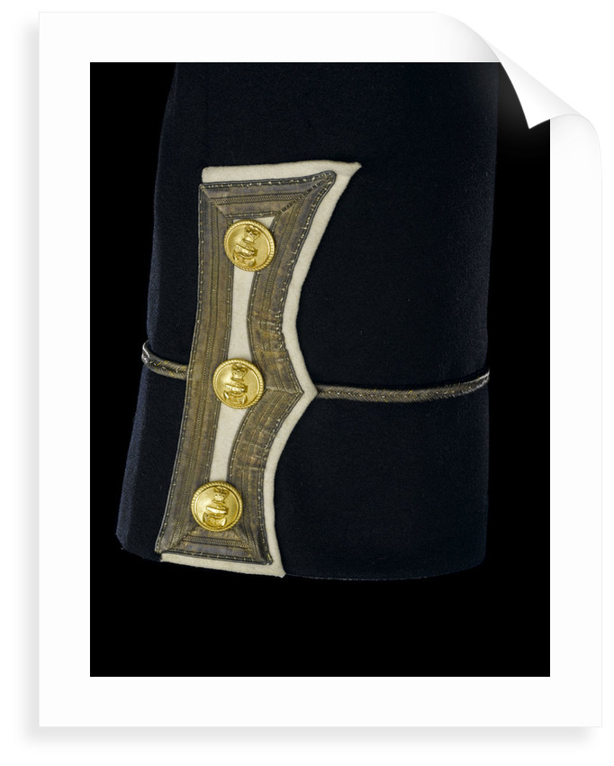 Full dress coat - cuff detail, Royal Naval uniform: pattern 1856 by unknown